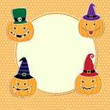 Cute Halloween card Royalty Free Stock Images