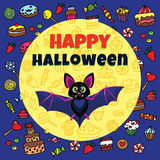 Cute halloween card Royalty Free Stock Photography