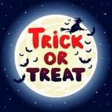 Cute Halloween card with moon Royalty Free Stock Photos