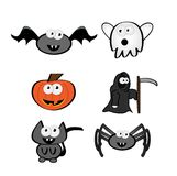 Cute Halloween Characters Stock Images