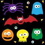 Cute Halloween Characters. A set of 6 cute halloween characters Stock Photos