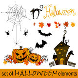 Cute Halloween elements Royalty Free Stock Photos