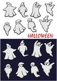 Cute Halloween ghosts Stock Image