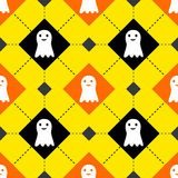 Cute Halloween ghosts seamless pattern Royalty Free Stock Images