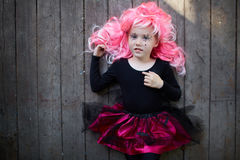 Cute Halloween girl Royalty Free Stock Image
