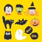 Cute Halloween Icon. Hand Drawn. Cute Halloween Icon Design Royalty Free Stock Image