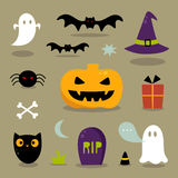 Cute Halloween icons Royalty Free Stock Images