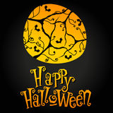 Cute Halloween illustration Stock Images