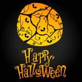 Cute Halloween illustration Stock Images
