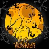 Cute Halloween illustration Royalty Free Stock Photo
