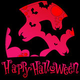 Cute Halloween illustration Royalty Free Stock Images