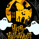 Cute Halloween illustration Stock Image