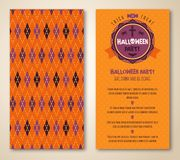 Cute Halloween invitation or greeting card Royalty Free Stock Images