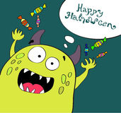 Cute halloween monster Stock Images