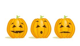 Cute Halloween pumpkins Stock Image