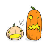 Cute Halloween Pumpkins Royalty Free Stock Photos