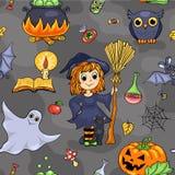 Cute Halloween seamless pattern Stock Photography
