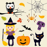 Cute Halloween set Royalty Free Stock Image