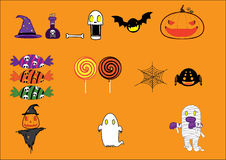 Cute halloween set Stock Images