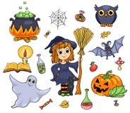 Cute Halloween set Stock Photos