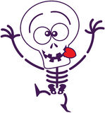 Cute Halloween skeleton making funny faces Royalty Free Stock Photos