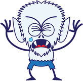 Cute Halloween werewolf crying and sobbing Royalty Free Stock Images