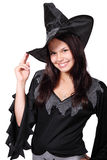 Cute Halloween Witch. Smiling isolated on white background Stock Image