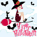 Cute Halloween witch Royalty Free Stock Photos