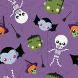Cute Hallowrrn repeat pattern Stock Photos