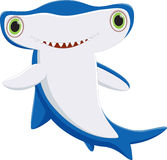 Cute hammerhead shark cartoon Royalty Free Stock Images