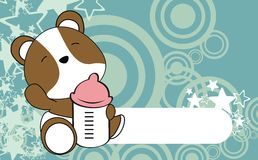 Cute hamster baby cartoon background Stock Photo