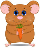 Cute hamster with carrot Royalty Free Stock Photo