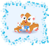 Cute hamster cartoon Royalty Free Stock Photo