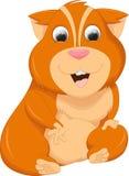 Cute hamster cartoon Royalty Free Stock Images