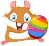 Cute hamster Easter stock illustration