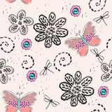 Seamless pattern. Cute hand draw seamless pattern for girl Royalty Free Stock Photo