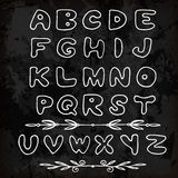 Cute hand drawn alphabet made in vector. ABC Royalty Free Stock Photos