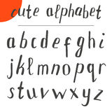 Cute hand drawn alphabet. Vector font. Vector illustration Stock Images