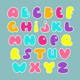 Cute hand drawn alphabet. Vector funny comics font. Cute hand drawn alphabet. Vector funny comics font Royalty Free Stock Photography