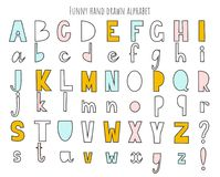 Cute hand drawn alphabet. Vector letters set. Scandinavian style with decorations. Cute hand drawn alphabet. Vector letters set. Scandinavian style with vector illustration