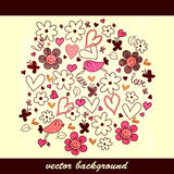 Cute hand drawn background Stock Photography