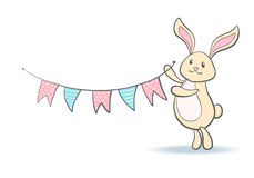 Cute hand drawn bunny. Royalty Free Stock Photo