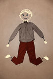 Cute hand drawn character in casual clothes Stock Image