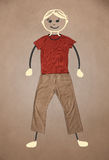 Cute hand drawn character in casual clothes Royalty Free Stock Photo