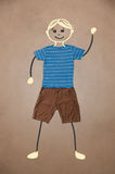 Cute hand drawn character in casual clothes Royalty Free Stock Images