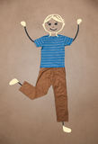 Cute hand drawn character in casual clothes. Cute blond hand drawn character in casual clothes Royalty Free Stock Photo