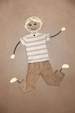 Cute hand drawn character in casual clothes. Cute blond hand drawn character in casual clothes Stock Photos