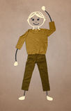 Cute hand drawn character in casual clothes Royalty Free Stock Photos