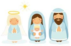 Cute hand drawn characters of Nativity scene Royalty Free Stock Photo
