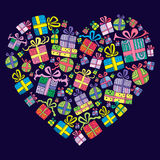 Cute hand drawn, decorative presents Stock Photography